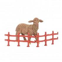 boerderijdier met hek 8 cm schaap