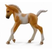 paarden: pinto veulen 8 cm lichtbruin