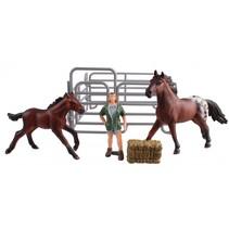 Country Life paardenverzorging bruin stippen 14 cm