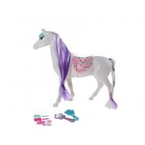 paard 25 cm wit/paars 7-delig