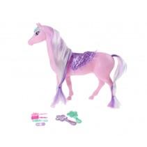 paard 25 cm roze 7-delig