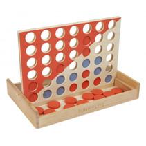 spel vier-op-een-rij 15 x 24 cm hout 43-delig