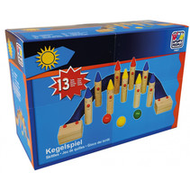 kegelspel junior 16 x 3 cm hout 13-delig
