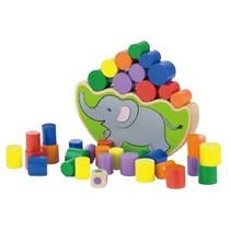 houten balansspel olifant 19,5 cm 25-delig