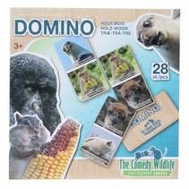 houten domino dieren 28-delig