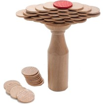 houten evenwichtsspel munten
