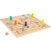 bordspel slangen en ladders 45 cm hout bruin