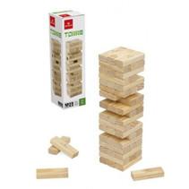 behendigheidsspel Jenga 7,5 x 2,3 cm hout beige 57-delig