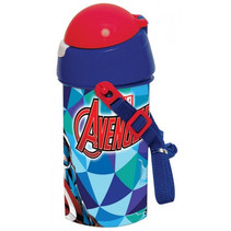 drinkbeker met koord Avengers junior 500 ml blauw/rood