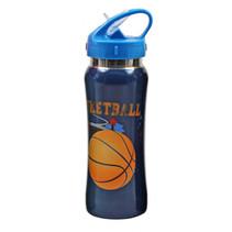drinkfles Basketbal jongens 500 ml aluminium blauw