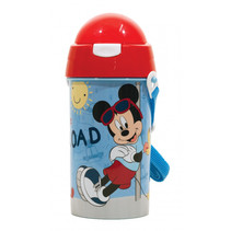 drinkfles Mickey Mouse junior 500 ml lichtblauw/rood
