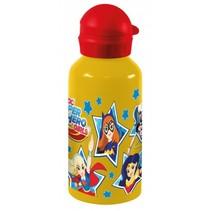 drinkfles aluminium Super Hero Girls 500 ml geel