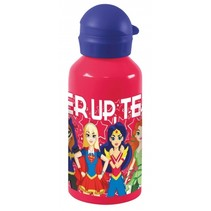 drinkfles aluminium Super Hero Girls 500 ml rood