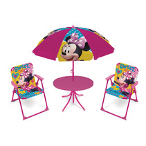 campingset Minnie Mouse junior polyester roze 4-delig