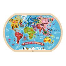 legpuzzel wereldkaart junior 45 x 29 cm hout 37 stuks