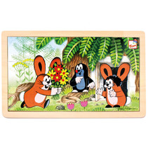legpuzzel Little Mole and Rabbits junior 30 cm 15-delig