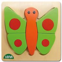 dierenpuzzel vlinder junior hout 14 x 14 cm