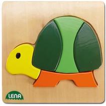 dierenpuzzel schildpad junior hout 14 x 14 cm