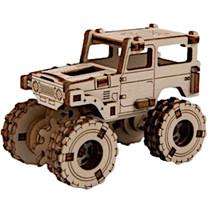 modelbouwset Superfast 6,8 cm hout goud 64-delig
