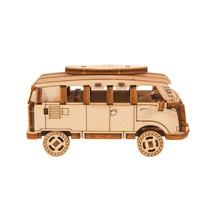 modelbouwset minibus Superfast 8,5 cm hout naturel