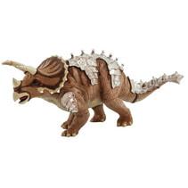 dinosaurus Triceratops junior 19,7 cm rubber bruin
