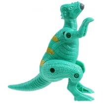 dinosaurus inklapbaar in ei 10 cm lichtgroen