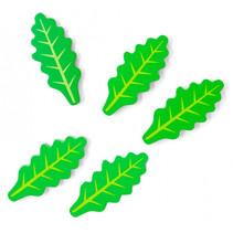 rucola salade blaadjes 3 cm hout groen 5 stuks
