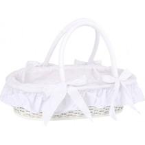 poppenmand met deken meisjes hout 46 cm wit