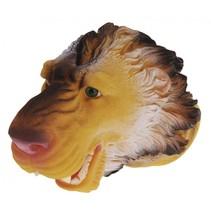 handpop leeuw 22 cm bruin