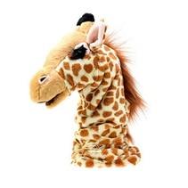 giraffe handpop 43 cm geel/bruin