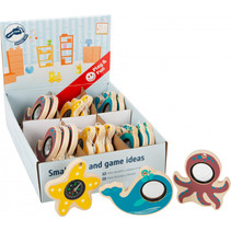 zeedierenspeelgoed junior 10 cm hout 18 stuks