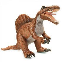 knuffeldino Velociraptor junior 77 x 37 cm pluche oranje