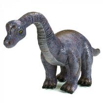 knuffeldino Argentinosaurus junior 80 x 40 cm pluche grijs