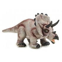 knuffeldino Triceratops junior 71 x 34 cm pluche beige/zwart