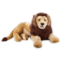 knuffeldier leeuw junior 100 cm pluche lichtbruin/bruin