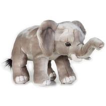 knuffeldier olifant junior 25 cm pluche grijs