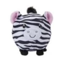 knuffel Squishimi Zoo Animals junior pluche 9 cm zwart