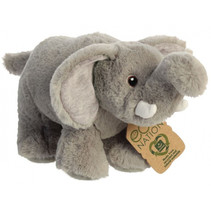 knuffelolifant Eco Nation 26 cm pluche grijs