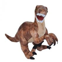 knuffel Velociraptor 63 cm pluche grijs