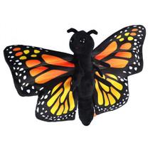 knuffel monarchvlinder junior 20 cm pluche zwart