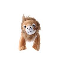 knuffel leeuw junior 38 cm pluche bruin/wit