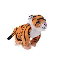 knuffel tijger 38 cm pluche zwart/oranje/wit