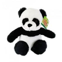 knuffelpanda zittend zwart/wit 21 cm