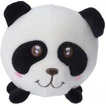 knijpspeelgoed bal panda 9 cm wit/zwart