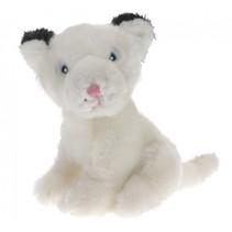 knuffel lynx 30 cm pluche wit