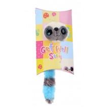knuffel in geschenkverpakking Get Well 9 cm blauw