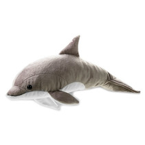 knuffeldolfijn junior 42 cm pluche grijs/wit