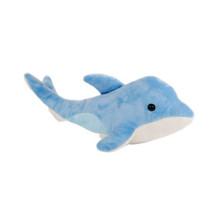 knuffel zeedier dolfijn junior 44 cm pluche blauw