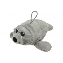 knuffelzeehond 28 cm grijs