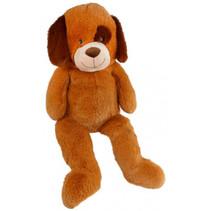 knuffel hond junior 59 x 95 cm pluche bruin